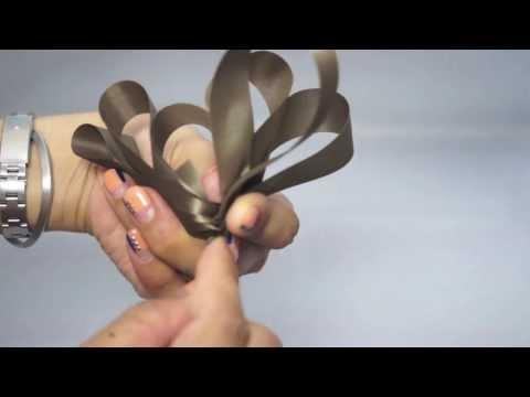 ループリボンの作り方 how to make a beautiful ribbon
