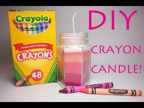 DIY crayon candle!! クレヨンキャンドルの作り方