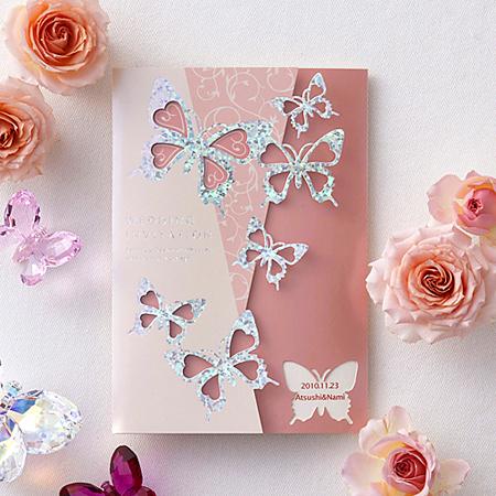 Butterfly-バタフライ- シャンパンローズ 招待状