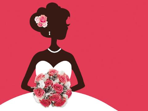 招待状:花嫁シルエット