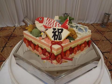 おめで鯛ウエディングケーキ8