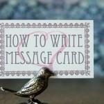 結婚式メッセージカード