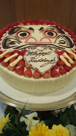 だるまのウエディングケーキ1