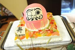だるまのウエディングケーキ3
