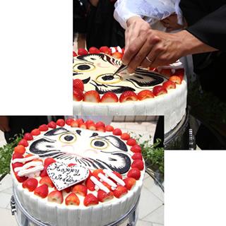 だるまのウエディングケーキ5