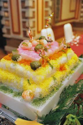 寿司のウエディングケーキ5