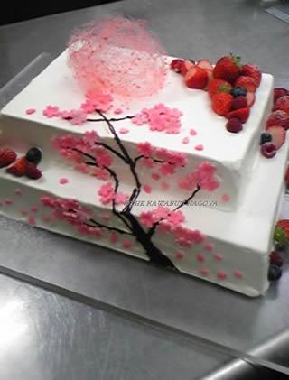 桜のウエディングケーキ1