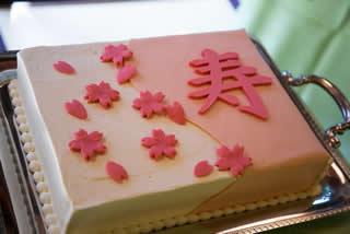 桜のウエディングケーキ2