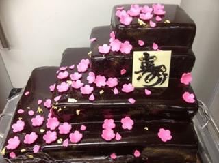 桜のウエディングケーキ5