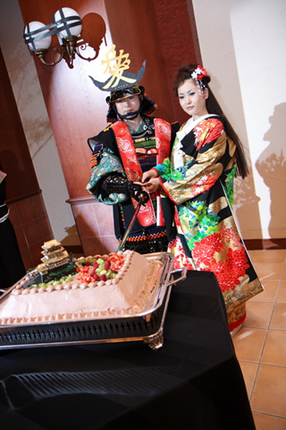 侍・日本刀のウエディングケーキ1