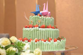 竹のウエディングケーキ4
