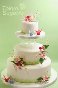 梅のウエディングケーキ1