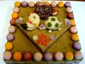 和菓子のウエディングケーキ1