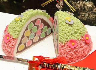 梅のウエディングケーキ3
