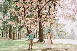 桜を使った海外ウエディングフォト33