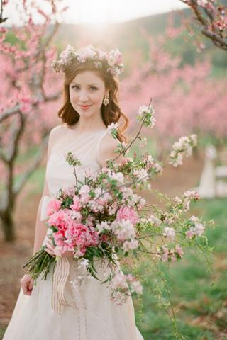 桜を使った海外ウエディングフォト36