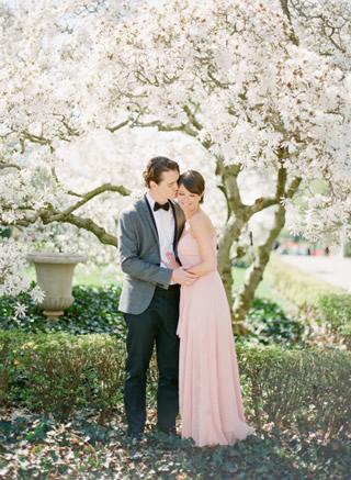 桜を使った海外ウエディングフォト51