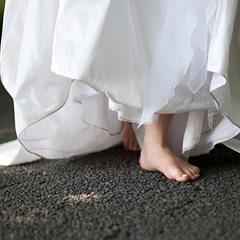 ガラスの靴で歩ける?