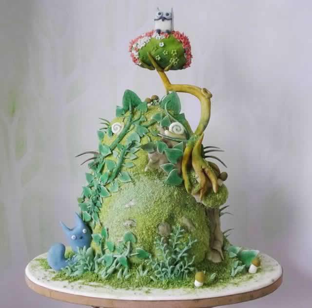 ジブリウエディングケーキ0