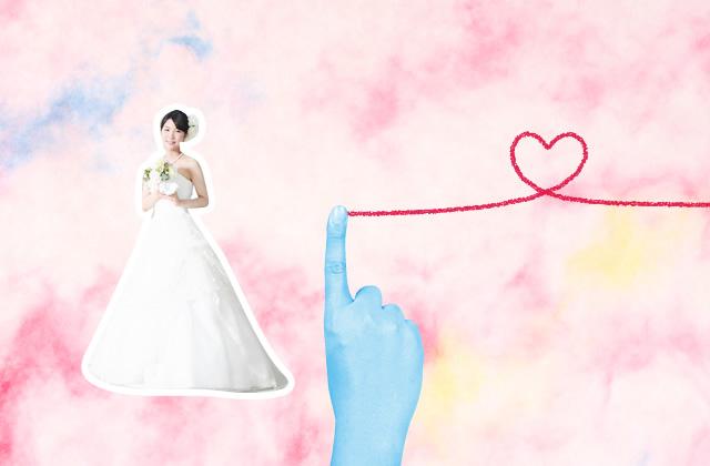 赤い糸と花嫁