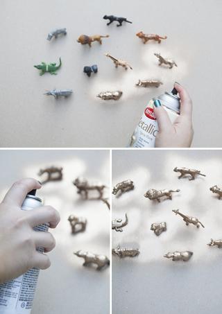 小さな動物たちの席札