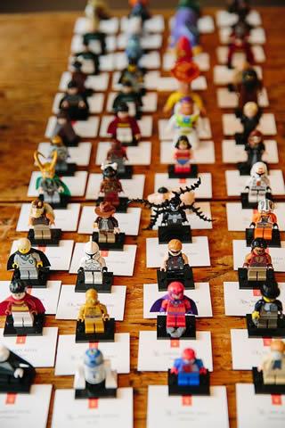 レゴブロックの席札