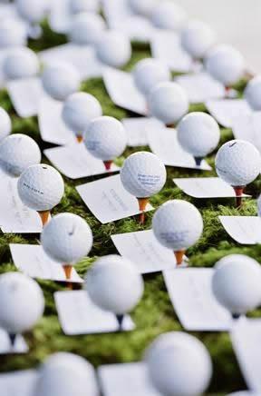 ゴルフボールの席札