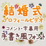 結婚式プロフィールビデオ コメント・字幕用手書きフォント