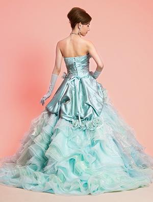 ブルーのウエディングドレス41