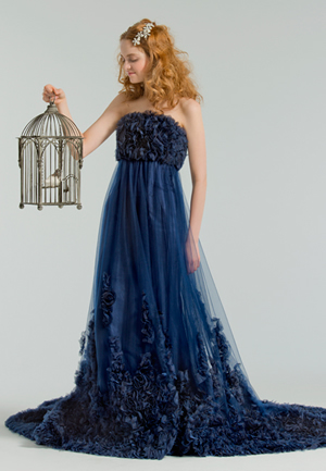 ブルーのウエディングドレス78