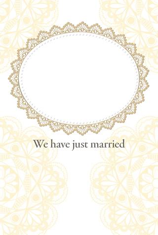 結婚報告ハガキ無料テンプレート|フォトフレーム(写真1枚)14