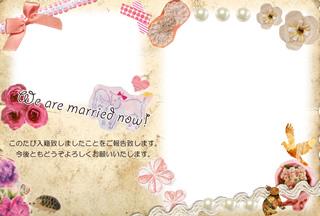結婚報告ハガキ無料テンプレート|フォトフレーム+背景写真31