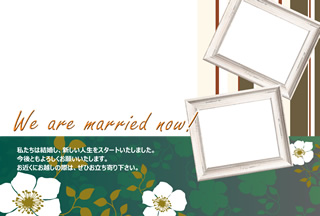 結婚報告ハガキ無料テンプレート|フォトフレーム+背景写真40