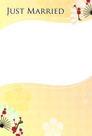 結婚報告ハガキ無料テンプレート|背景写真58