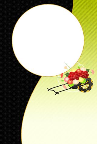 結婚報告ハガキ無料テンプレート|フォトフレーム(写真1枚)61