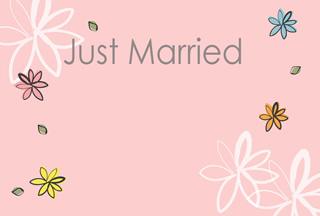 写真なし結婚報告ハガキ素材|背景素材76