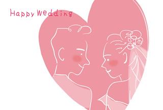 写真なし結婚報告ハガキ素材|背景素材79