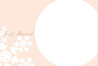 結婚報告ハガキ無料テンプレート|背景写真80