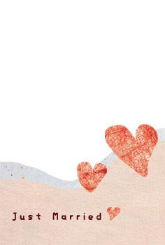 結婚報告ハガキ無料テンプレート|背景写真81
