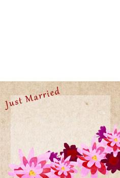 結婚報告ハガキ無料テンプレート|背景写真83