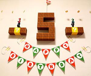 Happy Birthday Projectのガーランドテンプレート4