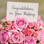 プリザーブドフラワー電報結婚式即日