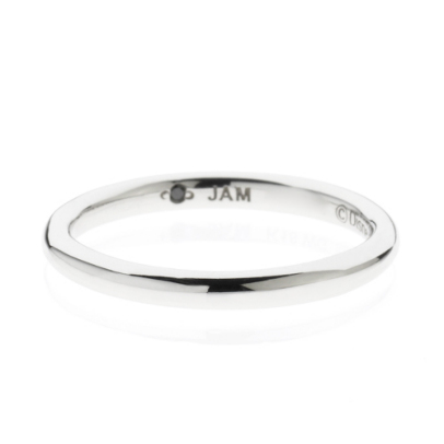CINDERELLA ROUND MARRIAGE RING S -PT900-