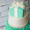 ティファニー風ウエディングケーキ